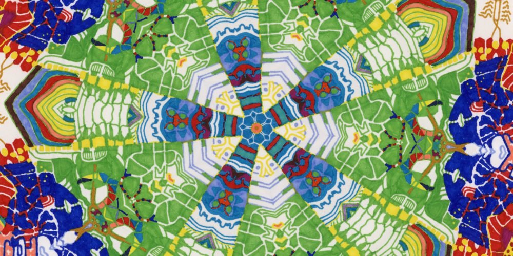The Kaleidoscopic I: A Psychedelic Cartoon